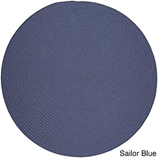 product image for Rhody Rug Woolux Wool Braided Rug - 6' Round Sailor Blue