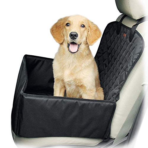 Yitour Dog Front Car Seat Covers - Dog Single Pet Seat Cover Seatbelt for SUV Van(100% Return Guarantee),Waterproof Protector Black Back Rear Dog Truck Booster Seat Cover,Vehicle Back Booster Carrier