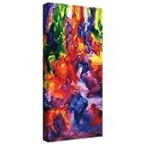 ArtWall Iribhogbe-b-002-24x12-w Bayo Iribhogbe 'Dance 2, 2000' Gallery-Wrapped Canvas Artwork, 24 by 12-Inch