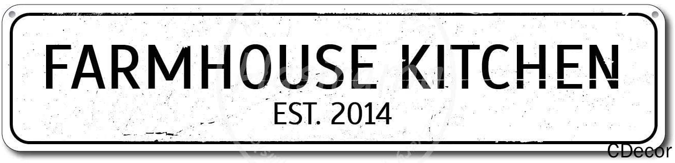 Farmhouse Kitchen Affiche de Fer Plaque de Porte Murale en /étain Panneau en Acier /Étain Mur Signe D/écorations dart pour Caf/é Bar Parc H/ôtel