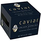 Season Black Capelin Caviar, 3.5 Ounce (Case of 12)