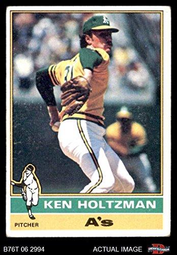 1976 Topps # 115 Ken Holtzman Oakland Athletics (Baseball Card) Dean's Cards 2 - GOOD Athletics ()