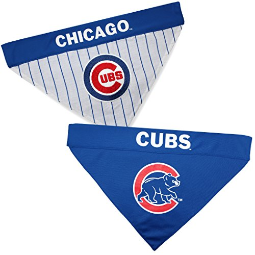 Pets First CUB-3217-S-M MLB Dog Bandana - Chicago Cubs Reversible Pet Bandana, Small/Medium, MLB Team -