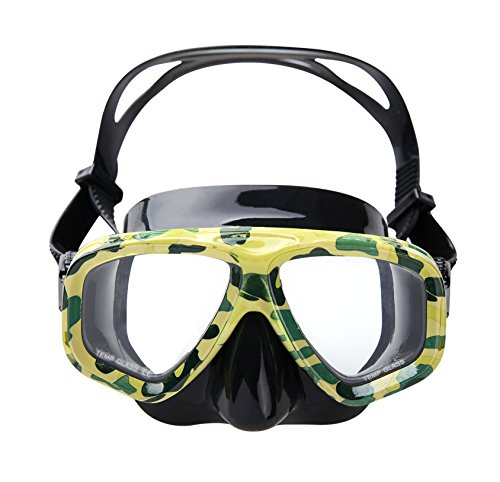 Snorkeling Mask, OBOSOE Anti-Fog Scuba Diving Mask for Adults, Kids - (Adult Silicone Mask)