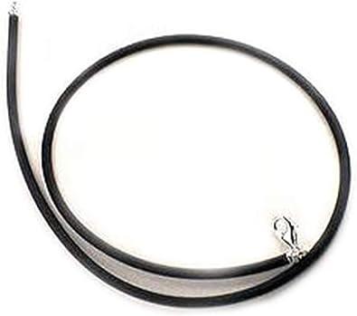 3MM Men Women BLACK RUBBER CORD DIY Necklace 12/'/' 14/'/' 16/'/' 18/'/' 22/'/' 24/'/'