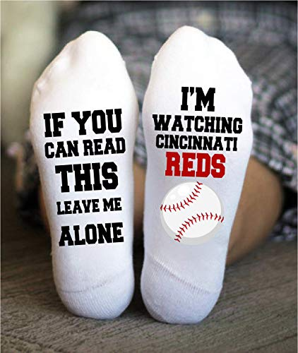 Cincinnati Reds Socks Funny Birthday Gifts Baseball - White Socks Reds Cincinnati