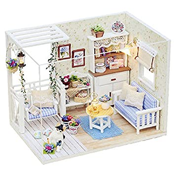 Amazon Com Handmade Diy Wooden Dollhouse Has Furniture For Adults