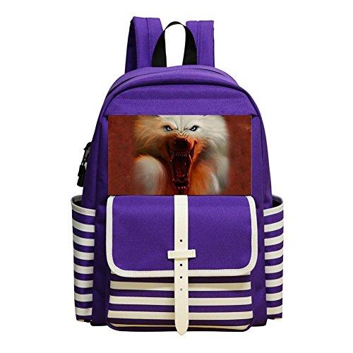 Mini School Bags For Kindergarten Unisex Children,Print A Wolf'S Mouth Has Blood