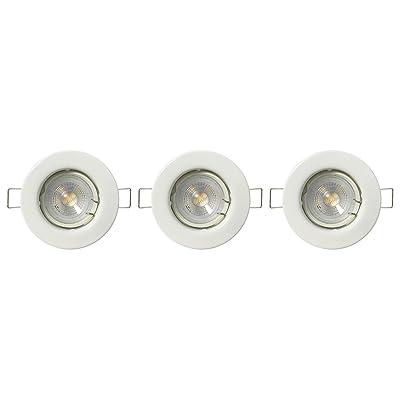 Luxen 60573 Eclairage Extérieur, Plastique, GU10, 5 W, Blanc, 82mm