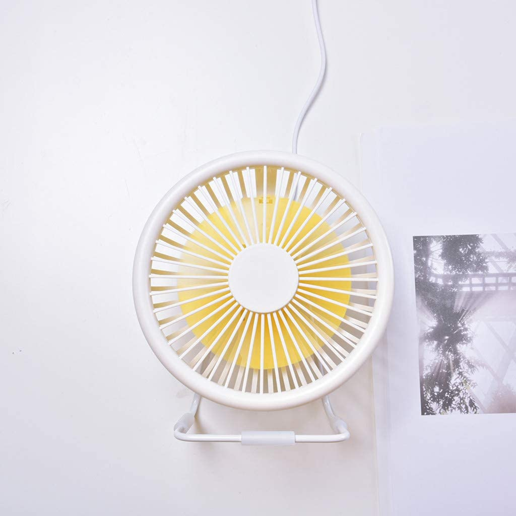 White Desktop USB Fan 5 Blades Cooler Cooling Mini Fan Computer Operation Super Mute Silent By Junlai
