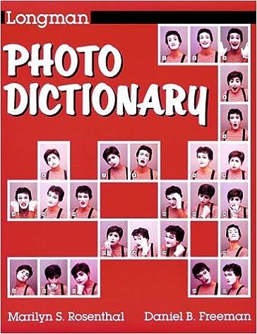Longman Photo Dictionary Marilyn S Rosenthal 9780801300042 Amazon