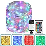 80Ft Outdoor Rope Lights, 240 LEDs Color Changing Lights with Remote, Waterproof String Lights Plug-in Fairy Lights Twinkle Lights for Outdoor, Wedding, Patio, Garden, Home Decor,16 Colors Option