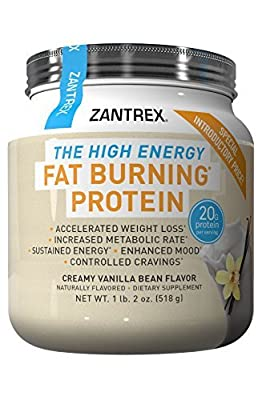 Zantrex High Energy Fat Burning Protein, Vanilla, 1.4 Pound by Zantrex