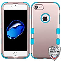 Asmyna Cell Phone Case for Apple IPhone 7 - Rose Gold/Tropical Teal