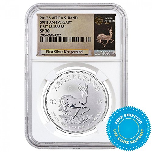 (2017 AU Krugerrand 2017 S. Africa Strand 50th Anniversary SP-70 NGC Krugerrand First Ever Silver $1 SP-70 NGC SP)