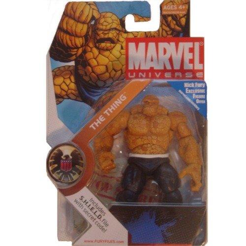 Marvel Universe 3 3/4 Inch Series 3 Action Figure  19 Thing Dark Pants Weiß Belt by Hasbro