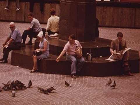 Photography Poster - FEEDING THE PIGEONS AT THE BASE OF THE FLAGPOLE IN FOUNT... - Fount Base