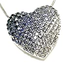 Brighton Glissando Blue Swarovski Crystal Silver Plated Necklace