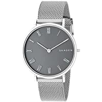 Skagen Women's 'Slim Hald' Quartz Stainless Steel Casual Watch, Color:Silver-Toned (Model: SKW2677)