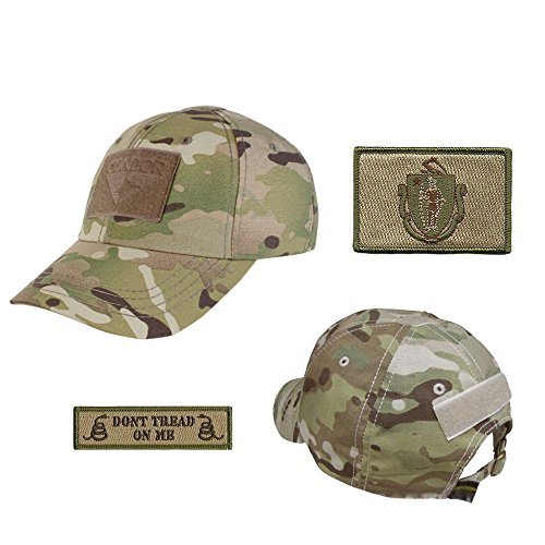 US State Operator Cap Bundle - With State & Dont Tread On Me Patches - Massachusetts