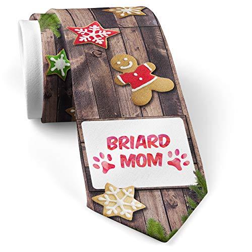 - His Christmas NeckTie Dog & Cat Mom Briard cookie wood print