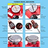 FARBIN Compact Air Horn with Compressor Snail