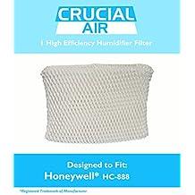 Honeywell HC-888 & Duracraft D88 Humidifier Filter Fits DCM-200, DH-888, 890, 890C DCM-891B, 891S (AC-888), HCM-890, 890B, 890C & HCM-890-20, Designed & Engineered by Crucial Air