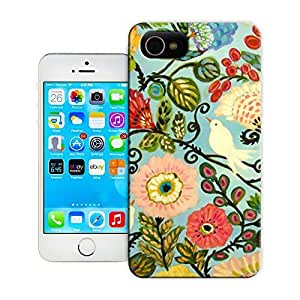 Unique Phone Case Birds Bohemian Cottage Style Flowers Art Print Hard Cover for iPhone 4/4s cases-buythecase