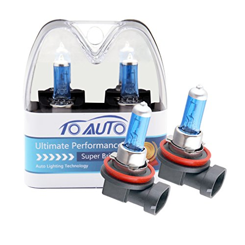 Xenon Super White Bulb - ToAUTO 2 X H11 55W 12V Car Headlight Lamp Halogen Light Super Bright Fog Xenon Bulb White