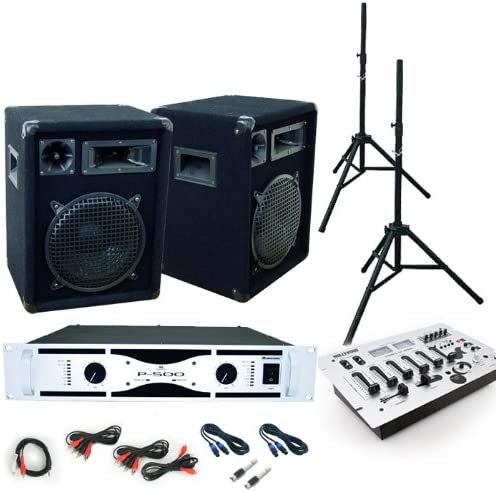 800 W PA Equipo Cajas Amplificador Mesa de mezclas de DJ 354: Amazon.es: Instrumentos musicales