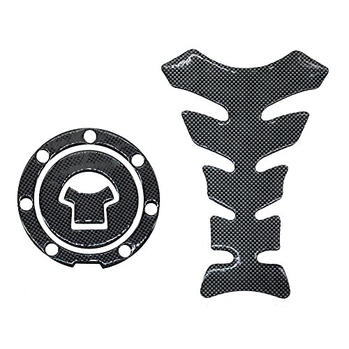 Carbon Fiber Look Tank Protector Pad and Gas Cap Cover Pad Sticker For HONDA CBR600RR 1000 F3 F4 F4I F5 CBR929 954 900 VFR CB400 1000 ()