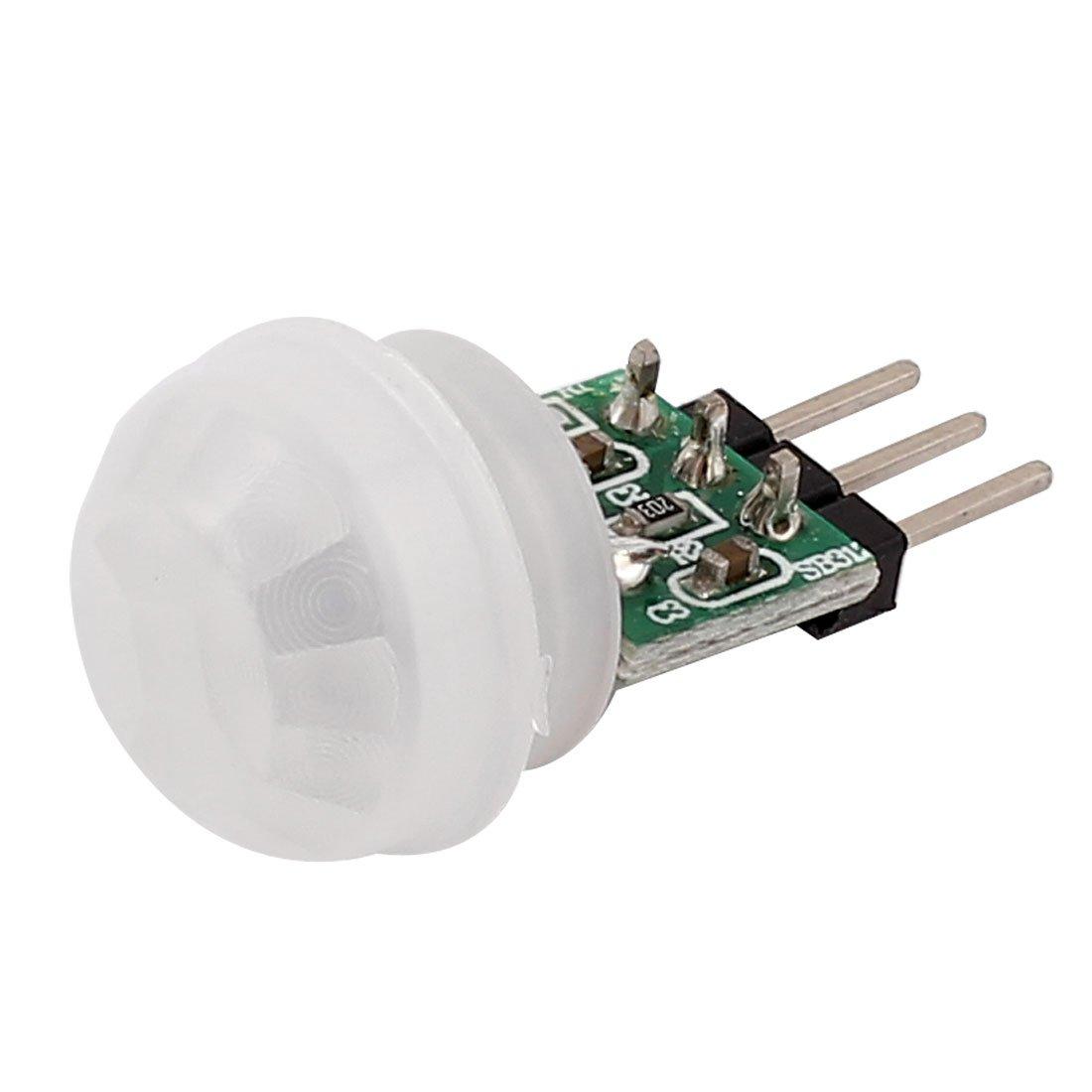 SOURCING MAP Mini Pyroel/étrico PIR Sensor M/ódulo Movimiento de Cuerpo Humano Infrarrojo Detecci/ón Tabla