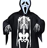 Elanbest Halloween Costume Adult Skeleton with Gloves Unisex for Boy Girl