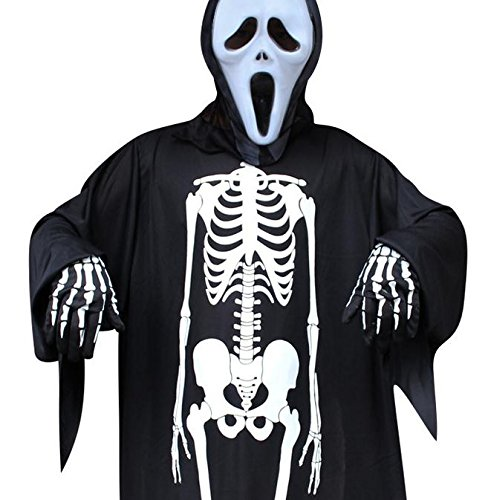 Costumes People Halloween Free (Halloween Costume Skeleton, Halloween Gloves Skeleton Costume Unisex Halloween Costume Scary for Adult Women Men Boys Girls Cosplay Skull Ghost Perfect for Party & Holiday)