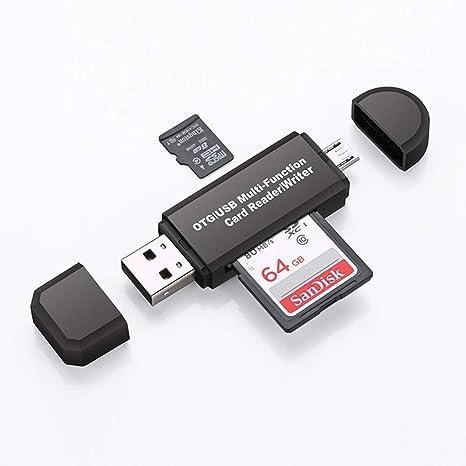 Lector de Tarjetas Micro USB OTG Adaptador y USB 2.0 para ...
