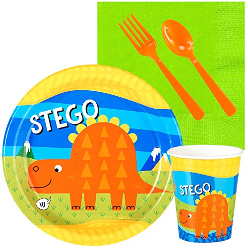 T-Rex Dinosaur Party Supplies - 1st Birthday Snack Party Pack