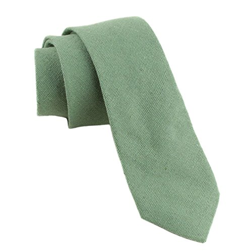 Levao Men's Cotton Skinny Necktie Solid Color Tie 261 ()
