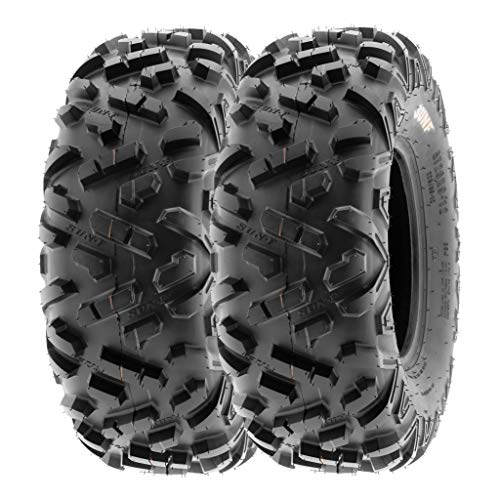 SunF 23x7-10 23x7x10 ATV UTV A/T Mud Replacement 6 PR Tubeless Tires A051 POWER II, [Set of 2]