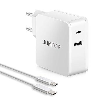 JUMTOP 2 Puertos Cargador USB Quick Charge 3.0 Cargador ...