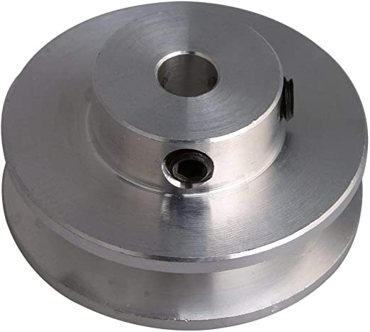 Amazon.com: Ochoos 31x15 ilver Aluminum Alloy Single Groove 5MM 6MM 7MM Fixed Bore Pulley for Motor Shaft 3-5MM PU Round Belt - (Bore Diameter: 7MM): Home Improvement