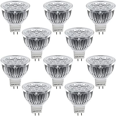 1 PACK/10 PACK 4W 12V LED MR16 Light Bulb,3200K Warm White/6000K Daylight,330Lm 60 Degree
