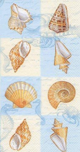 Ideal Home Range 16-Count 3-Ply Paper Guest Towel Napkins, Blue Sounds of The Sea - Guest Napkins Blue
