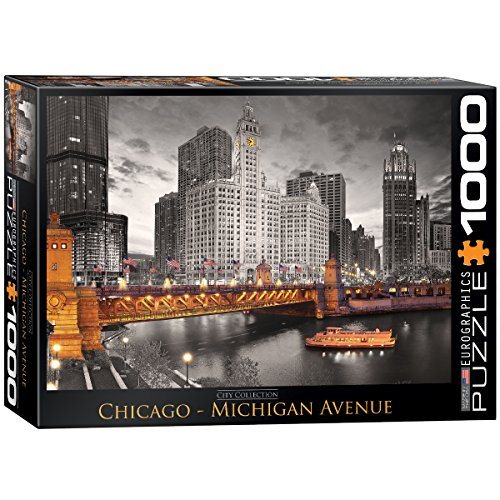 EuroGraphics Chicago Michigan Avenue Puzzle (1000-Piece) (In Illinois Photography)
