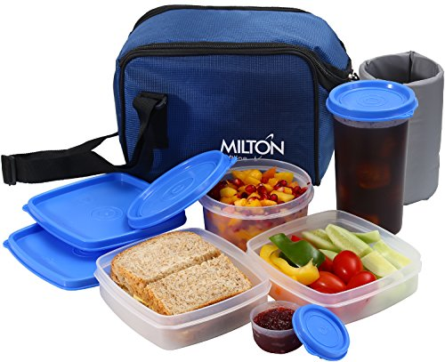 Insulated Lunch Bag Box Kit, Milton 5 Pc Set, Adults Men Women, Leakproof Airtight Containers Cooler Tote with Adjustable Shoulder Strap for Work School and Travel - - Near Shopping Times Square
