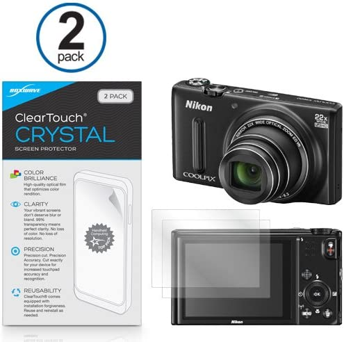 HD Film Skin Shields From Scratches for Nikon Coolpix S9600 ClearTouch Crystal BoxWave/® 2-Pack L840 Nikon Coolpix S9600 Screen Protector
