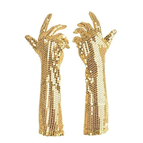 OvedcRay Womens Long Elbow Sequin Gloves 1920S 20'S Flapper Prom Adult Costume Gloves