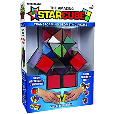 California Creations The Amazing Star Cube: 2 Piece Transforming Geometric Puzzle - Solve The Cube To Find The Hidden Star: Toys & Games