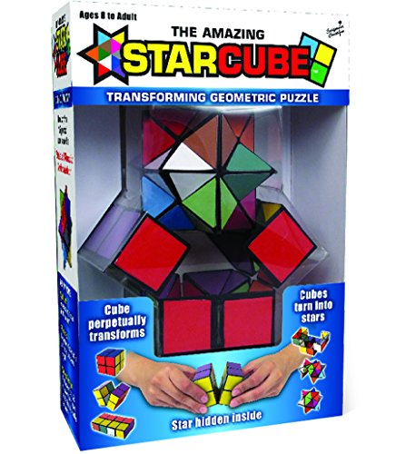 California Creations The Amazing Star Cube: 2 Piece Transforming Geometric Puzzle - Solve The Cube To Find The Hidden Star