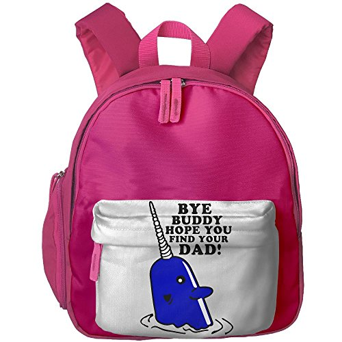 Pocket Design BagBye Buddy Hope You Find Your Dad Childrens'bag Toddler Preschool Backpack Children CoolBackpacks School Bag