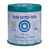 Blue Lotus Chai - Mint Flavor Masala Chai - Makes 100 Cups - 3 Ounce Masala Spiced Chai Powder with Organic Spices - Instant Indian Tea No Steeping - No Gluten